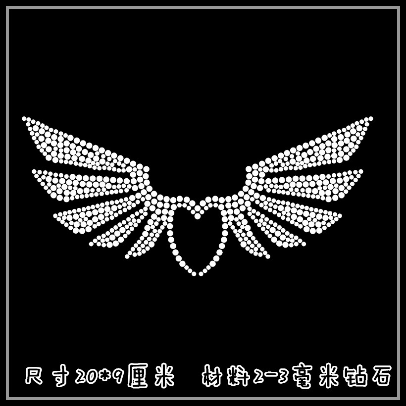 2pc lot angel wings patches iron on rhinestone transfer designs hot fix  rhinestone motif for shirt-in Rhinestones from Home   Garden on  Aliexpress.com ... 98c24458251c