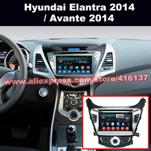 2 Din HD 1024*600 Android Car GPS Multimedia for Hyundai Elantra  2014 with DVD Player Radio 3G Wifi Bluetooth OBD2 Mirror-Link