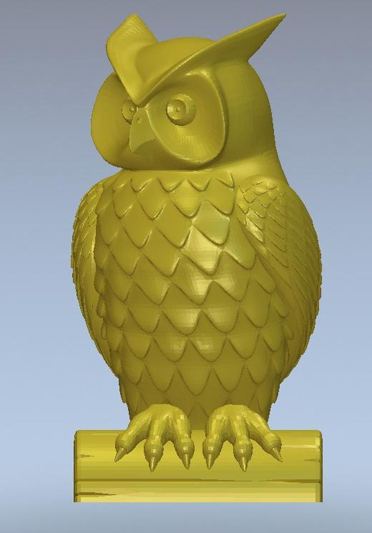 3d model relief  for cnc in STL file format Panno owl -3 panno hunting 2 for cnc in stl file format 3d model relief