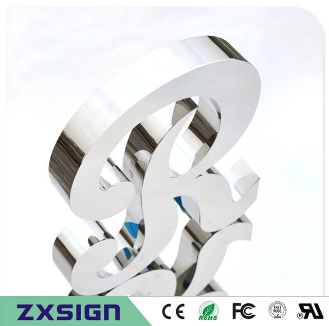 placeholder outdoor mirror polished stainless steel letters chrome finish metal signs small metal letters for