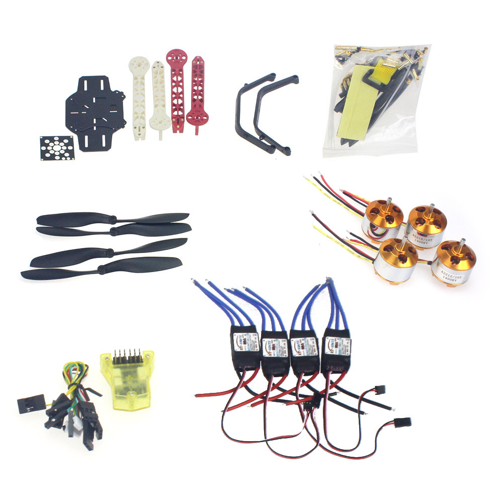 RC Drone Quadrocopter Aircraft Kit F330 MultiCopter Frame MINI CC3D Flight Control No Transmitter No Battery F02471-G rc drone quadcopter 4 axis aircraft kit f330 multicopter frame 6m gps apm2 8 flight control no transmitter no battery f02471 e