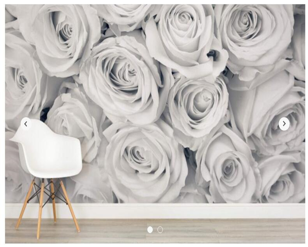 Papier peint floral personnalisé, papier peint Rose brouillard Mural pour salon chambre salon fond mur décoration de la maison papier peint