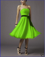 Vestido Madrinha 2016 New Sexy Strapless A Line Chiffon Knee Length Coral Colored Bridesmaid Dresses High