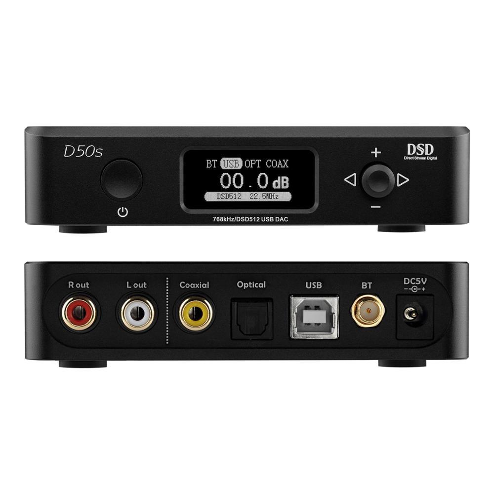 TOPPING D50S CSR8675 Bluetooth 5 0 ES9038Q2M AUDIO Decoding USB DAC XMOS XU208 DSD512 32Bit 768Khz OPA1612 USB OPT COAX input in Digital to Analog Converter from Consumer Electronics