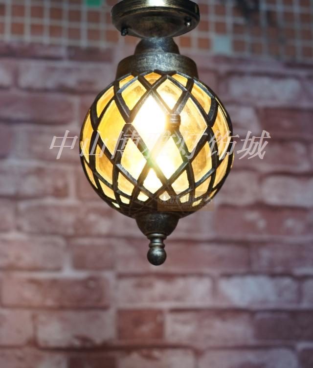 Punching diamond ceiling lamp European style retro bronze aisle lamp Nordic waterproof outdoor lamp Ceiling Lights LO7127Punching diamond ceiling lamp European style retro bronze aisle lamp Nordic waterproof outdoor lamp Ceiling Lights LO7127