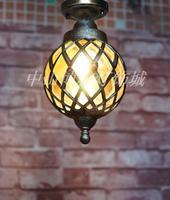 Punching diamond ceiling lamp European style retro bronze aisle lamp Nordic waterproof outdoor lamp Ceiling Lights LO7127