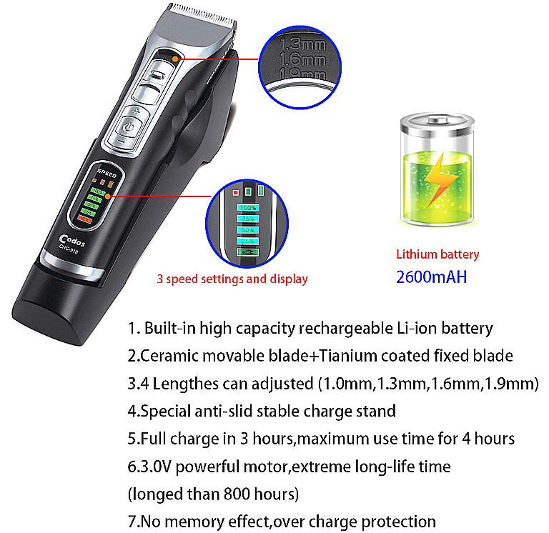 110-240V LCD Display Waterproof Electric Hair Clipper Razor Child Baby Men Shaver Hair Trimmer Cutting Machine To Haircut Hair professional electric hair clipper trimmer child baby men electric shaver hair trimmer cutting machine to haircut hair