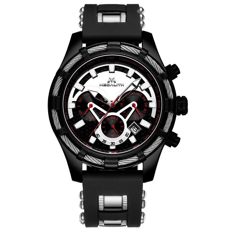 MEGALITH Watches Men Sport Luminous Disply Quartz Watch Top Brand Luxury Waterproof Chronograph Date Watches Male Reloj HombreMEGALITH Watches Men Sport Luminous Disply Quartz Watch Top Brand Luxury Waterproof Chronograph Date Watches Male Reloj Hombre