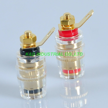 5Pairs Copper Gold Audio Speaker Binding Post Amplifier Small For 4MM Banana Plug