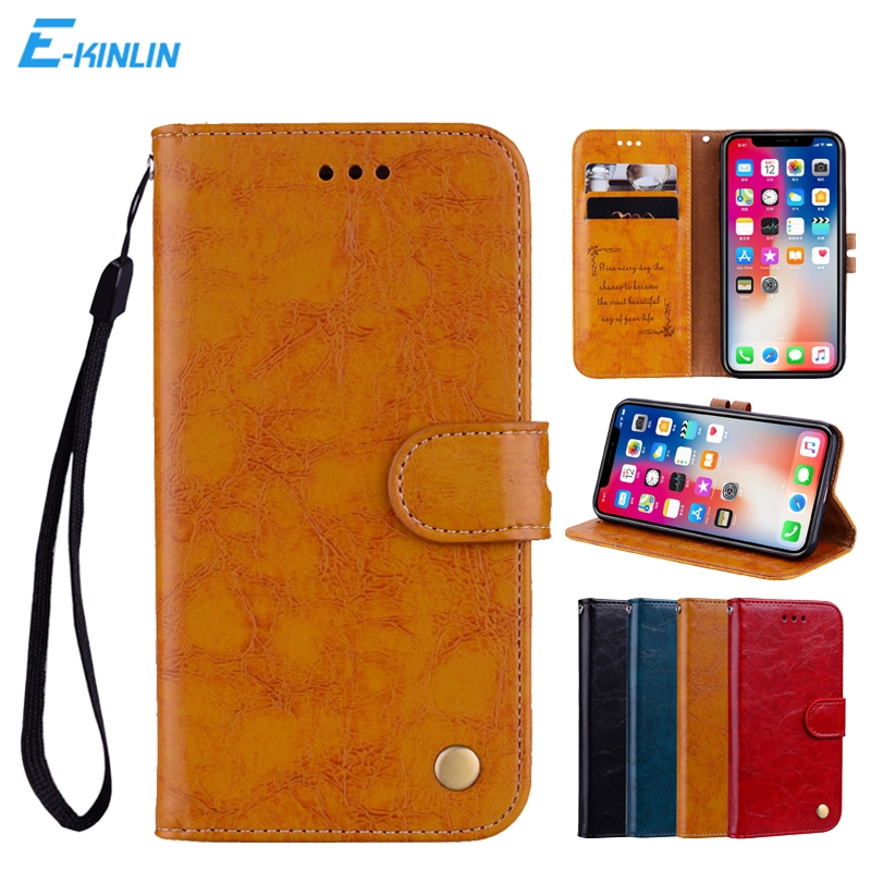 Ultra Thin PU Leather Flip Cover With Wallet Card Slots Holder For iPhone X 10 Ten 8 7 6 6S Plus SE 5 5S Protective Case ...