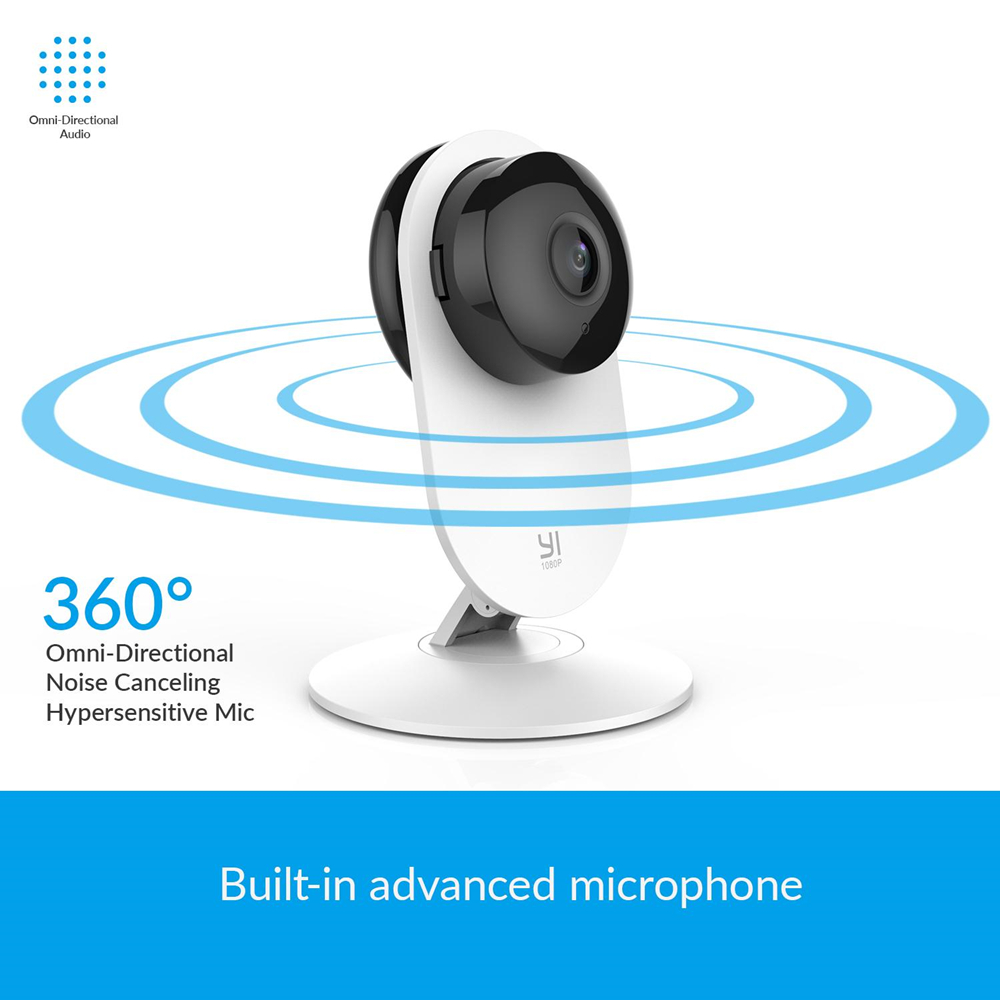 Image 2 - YI 1080p Home Camera Wireless IP Security Surveillance System WIFI cam CCTV YI Cloud Available camera owl (US/EU Edition) White-in Surveillance Cameras from Security & Protection