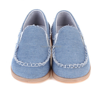 New!!kids canvas shoes boys denim sneakers slip on shoe sky blue hand stitching casual fashion leather shoes spring autumn 2018 new sky blue party slip shoe on mature italian shoes with matching bags rhinestones high quality african shoes and bag set