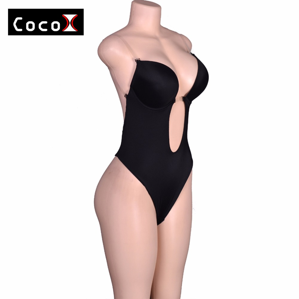 Hot S Vestido Backless Shapewear Deep Plunge Body Shaper Tops Invisible Under Dress New Y Clear Strap In Bodysuits From Women Clothing