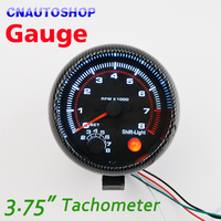 95mm 3 75 Inch Tachometer For Single Color LED Auto Meter 3 3 4 12V Car