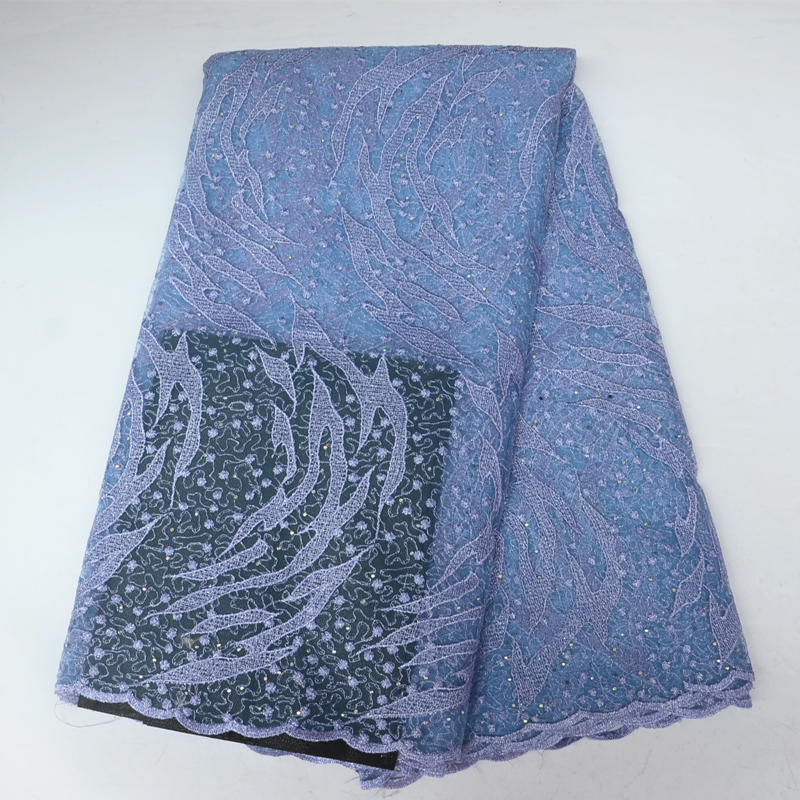5 Yards Piece African Net Lace Fabric With Stones African Lace Fabric With Super Quality For