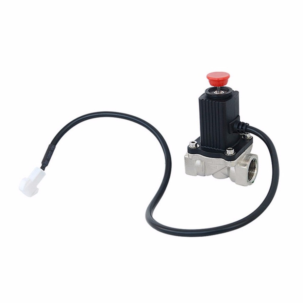LPG Natural Gas Emergency Shut Off Solenoid Valve DC9V-12V For Home Security Alarm System For Alarming Leak Gas Pipeline