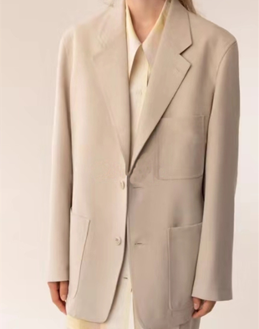 2019 fall and winter silhouette single-breasted oversized wool blazer coat two-color for both men and women