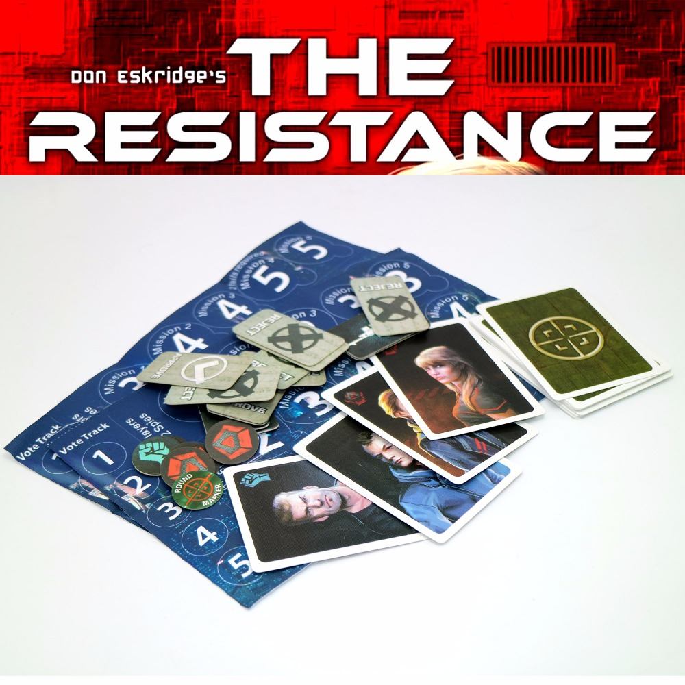The Resistance (TheDystopianUniverse) English card board game related to Coup Game married to the game
