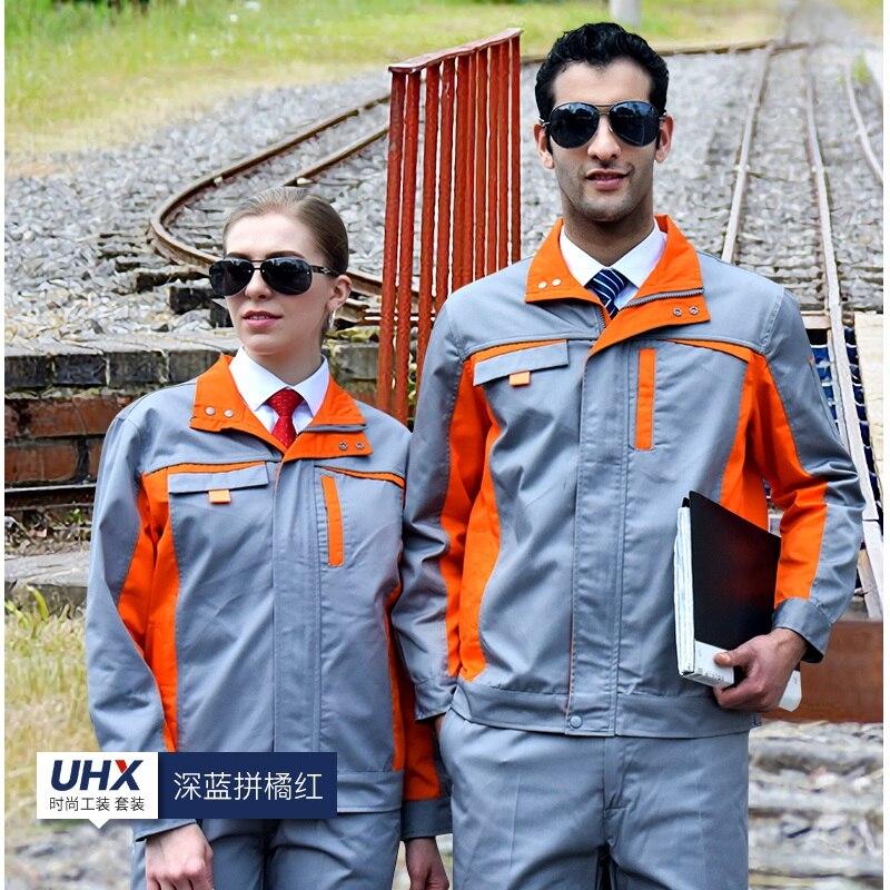 10 Sets  Factory Clothing Workshop Jacket Custom Repair Garment Workwear Labor Insurance Work Clothes Labour Suit Uniforms