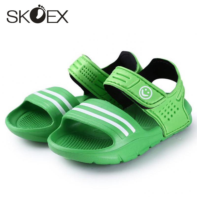 SKOEX Children Sandals Boys Girls Beach Shoes Slip-resistant Wear-resistant Outdoor Kids Slipper Garden Shoe (Baby/Little Boys)