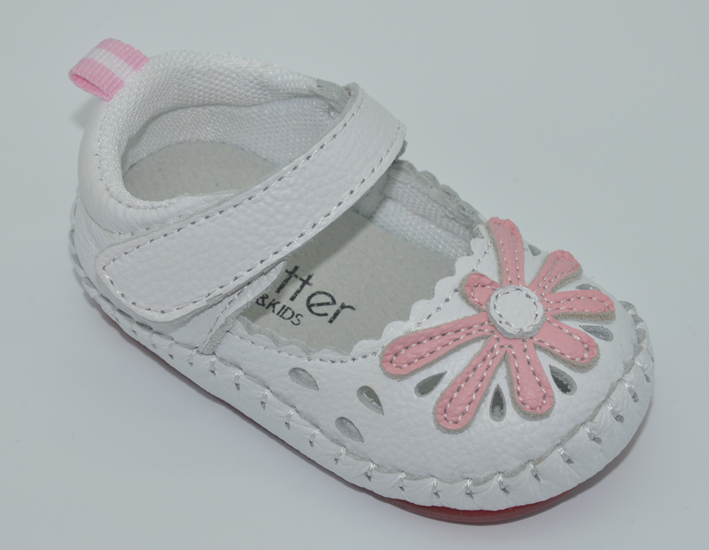 Baby Shoes Genuine Leather Newborn White Green Pink Girls Infant Shoes Prewalkers Crib Shoes Nonslip Daisy Mary Jane Rubber Sole