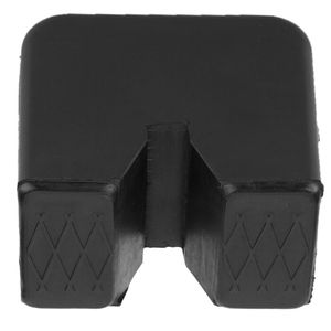 Image 5 - Black Slotted Frame Rail Floor Jack Disk Rubber Pad Fits For Pinch Weld Side HOT