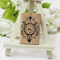 Vintage Hanging Clock Rubber Wooden Stamps For Scrapbooking Carimbo Postcard Or Bookmark Scrapbooking Stamp 4 6cm