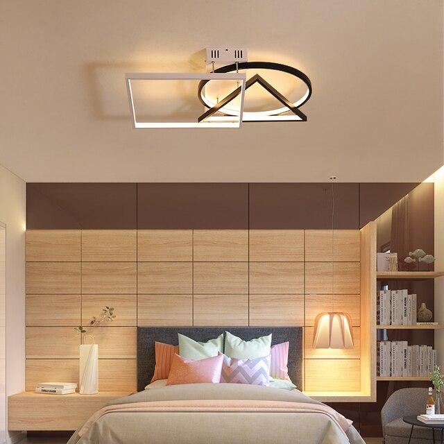 Chandelierrec Moden Led Ceiling Lights Living Room Bedroom Low Ceilings Home Lighting Fixtures Aluminum Ac85 265v Lamp