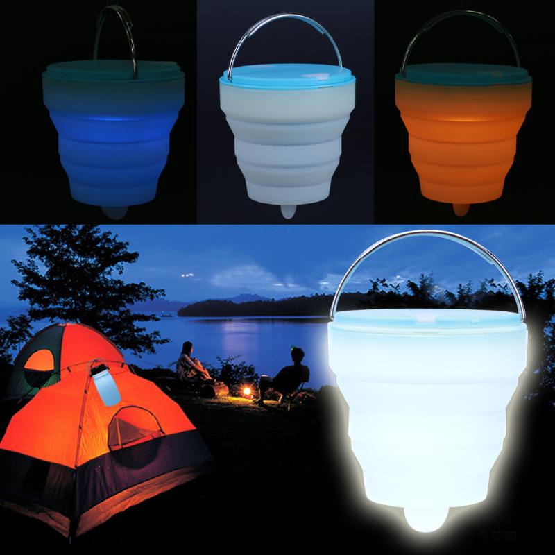 LED Silicone Camping Lamp LED Tent Light Colorful Atmosphere Night Light Outdoor Camping Tent Hanging Adventure Lanters Lamp