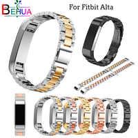 Correa de reloj de acero inoxidable para la pulsera de repuesto Fitbit de Alta HR para accesorios de correa de reloj fitbit alta