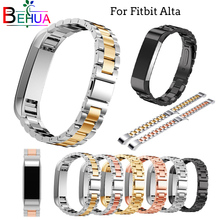 Stainless Steel Watch Strap For Fitbit Alta HR band replacement Bracelet Wristband For fitbit alta Straps watchband accessories crested woven nylon strap for fitbit alta band alta hr replacement band survival bracelet wristband watchband strap fitbit alta