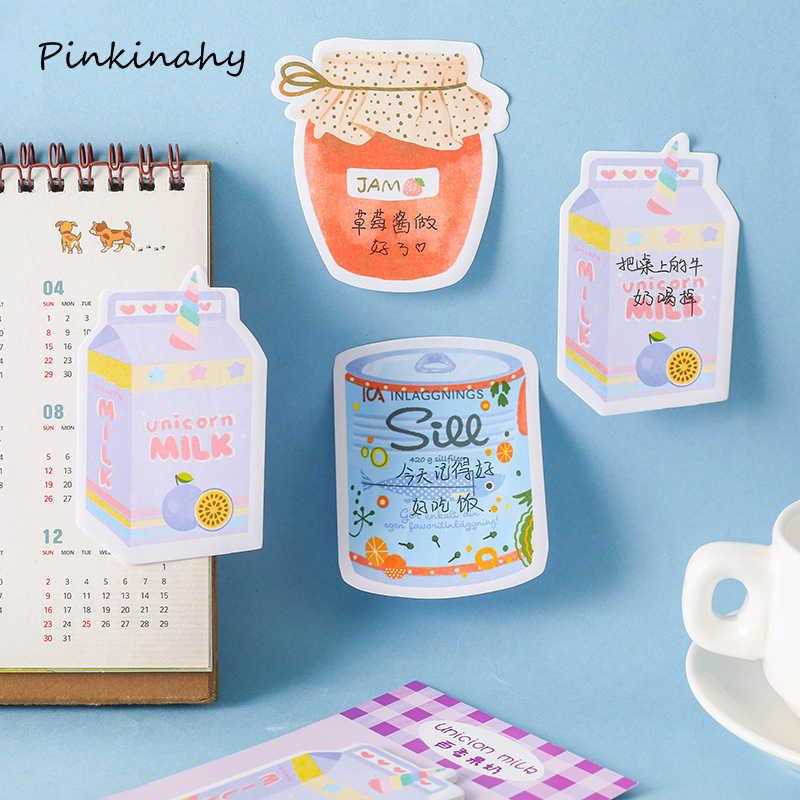 الإبداعية اليابانية للاهتمام هلام المعلبة القرطاسية Kawaii مثبت ملاحظات مخطط ملصقات مذكرة المفكرة مكتب الديكور BQ039
