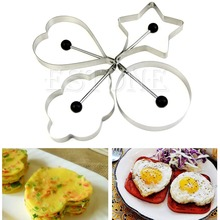E74 4 unids Cocina Pancake Acero Inoxidable Molde Molde de Anillo de Huevo Frito Cocinar Shaper
