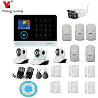 Yobangsecurity Беспроводной Wi Fi GSM Дистанционное управление Wi Fi Защита от взлома дом Бизнес охранных Системы Крытый IP Камера