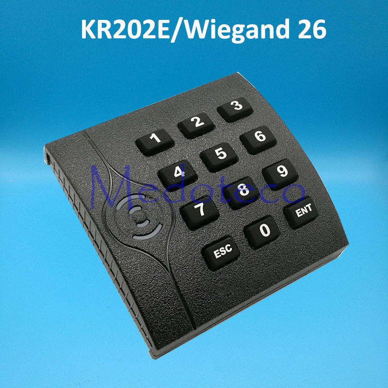 KR202E Wiegand 26 Proximity Card Reader for Access Control System 125khz Rfid Card Reader Access Slave Reader rfid card reader 26 bits wiegand 26bits 34 bits for card access control system