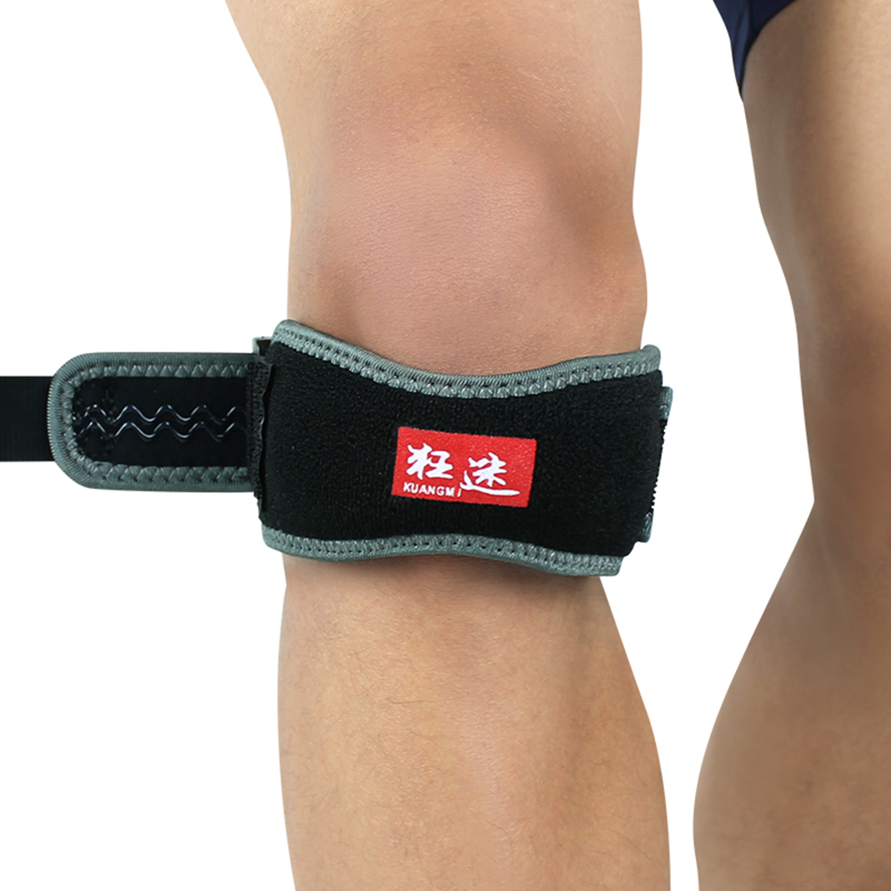 Kuangmi Patella Knee Tendonitis Strap Support Sports Safety Adjustable Jumpers's Knee Patellar Tendon Belt Protector Pain Relief