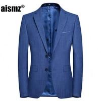 Aismz Brand clothing Men Blazer Cotton Smart Casual Slim Fit Suits Parka Men's Suit Jackets Male homen Jaqueta Size 4XL