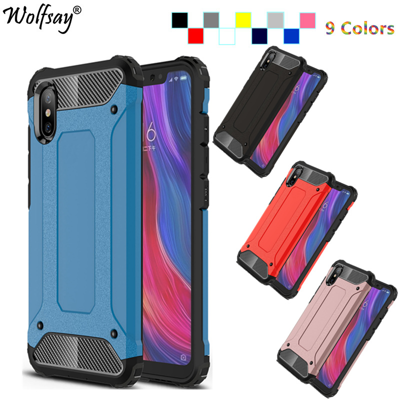 Wolfsay Fitted Case Xiaomi Mi 8 Explorer Case Armor Soft Silicone Hard Phone Shell For Xiaomi Mi 8 Explorer Cover Mi8 Explorer