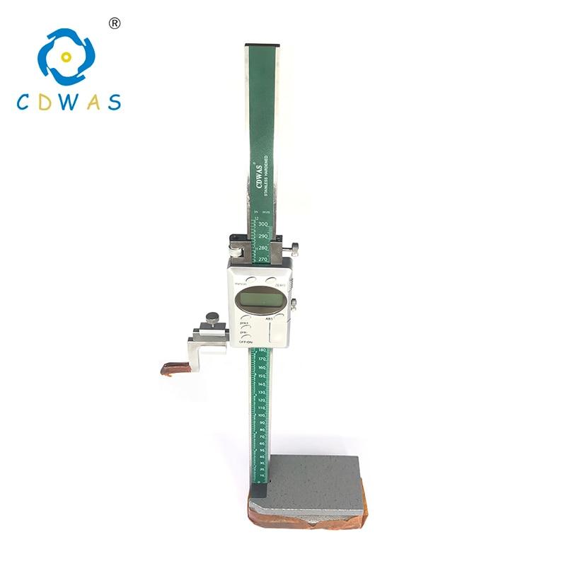 Medidor de Altura Digital compassos 0-300mm Altura de aço Inoxidável eletrônico digital vernier Caliper Ferramenta de Medição paquímetro