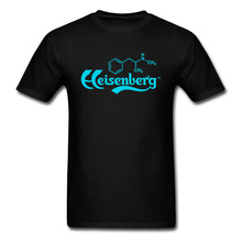 цена Blue Meth Heisenberg Bad Breaking Printed On Tshirt For Men Father's Big Size Gift Tops Tees Chemical Molecular Structure O Neck онлайн в 2017 году