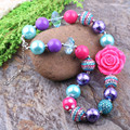 Free Shipping 3Pcs Big Sale Colorful Beads DIY Kids Chunky Bubblegum Necklace Baby Toddler Phote Prop Jewelry Cheap To Wholesale