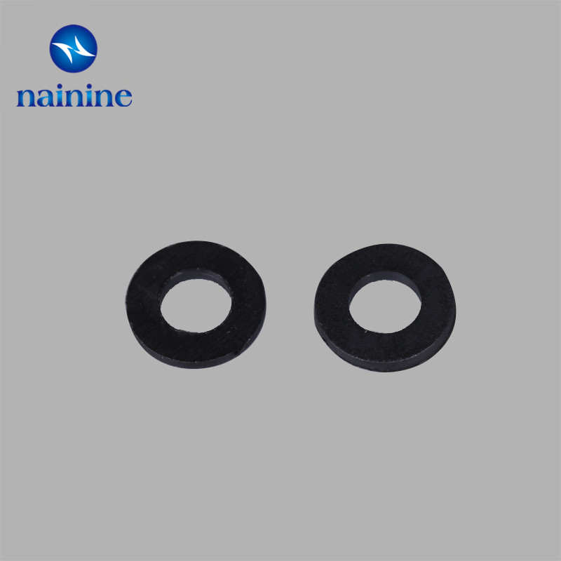 100Pcs DIN125 ISO7089 M2 M2.5 M3 M4 M5 M6 M8 Black Plastic Nylon Washer Plated Flat Spacer Washer Seals Gasket Ring NL13 500pcs m2 m2 5 m3 m4 m5 m6 black plastic nylon washer flat spacer washer seals gasket ring 6 sizes