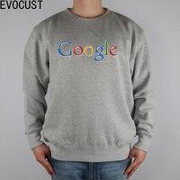 Internet Programmers CODER Google Network Men Sweatshirts Thick Combed Cotton