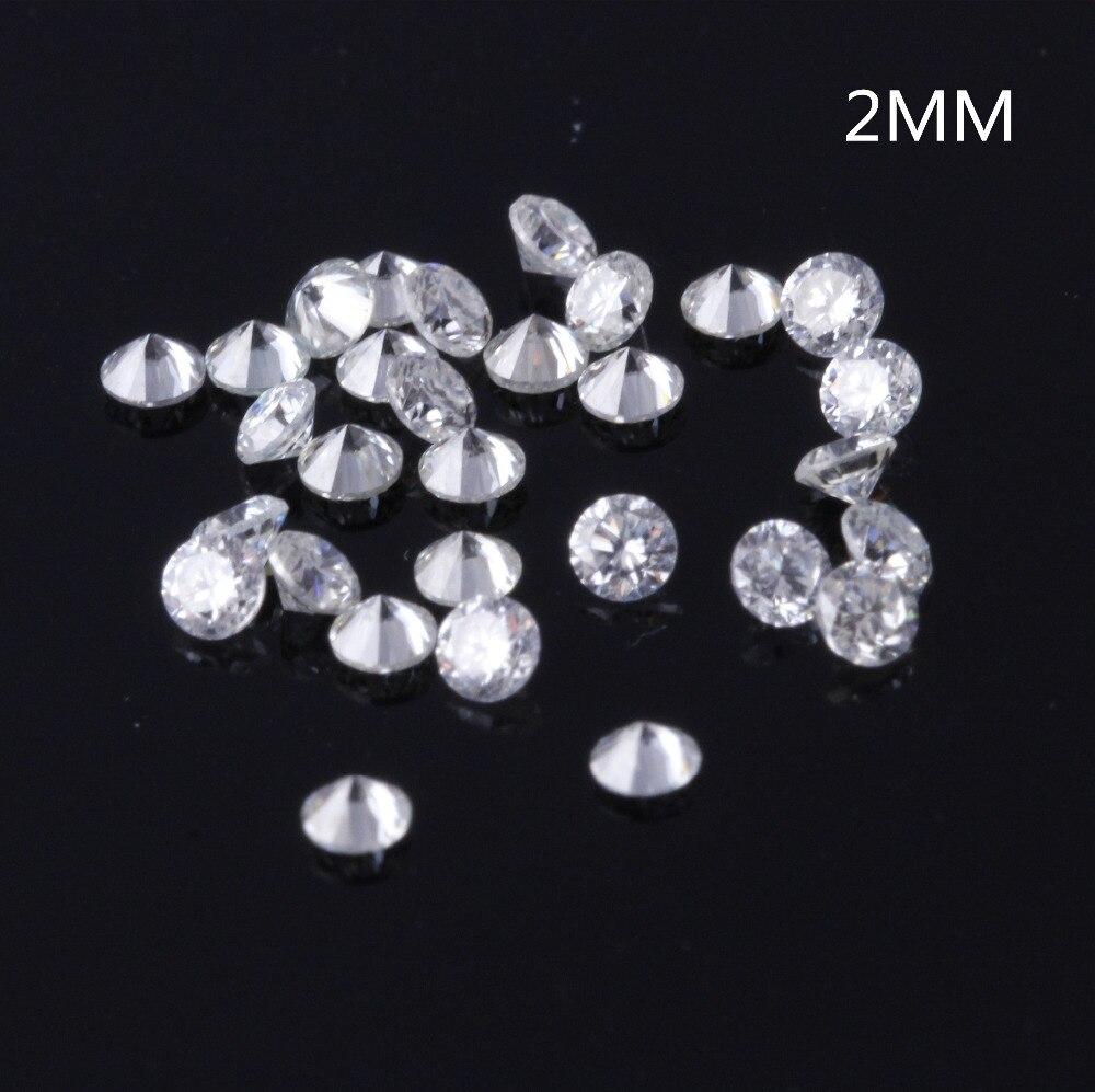 TransGems 2mm=0.035carat Total 1 CTW F Color Certified Lab Grown Moissanite Diamond Loose Bead