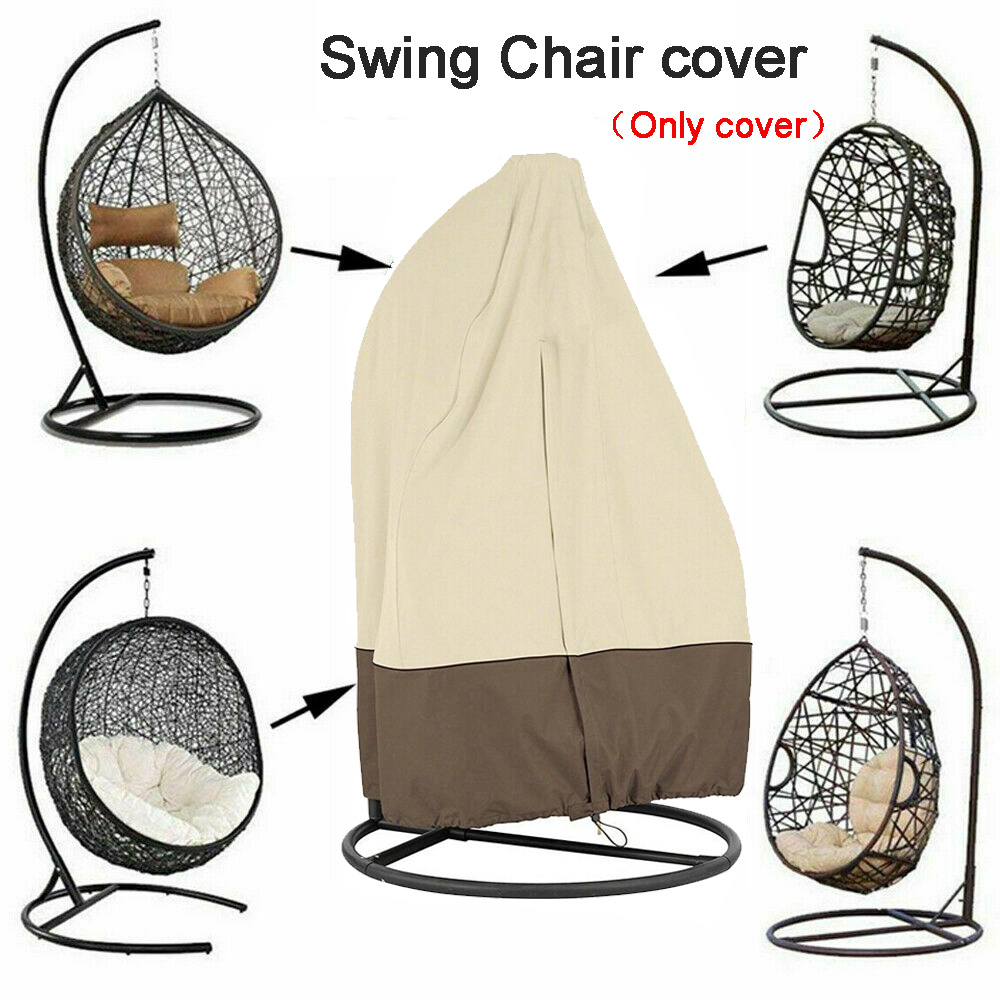 Brilliant Us 21 42 49 Off Swing Hanging Egg Chair Cover Waterproof Dust Proof Uv Protect Garden Furniture Rain Protection Cover 190X115Cm In All Purpose Pdpeps Interior Chair Design Pdpepsorg