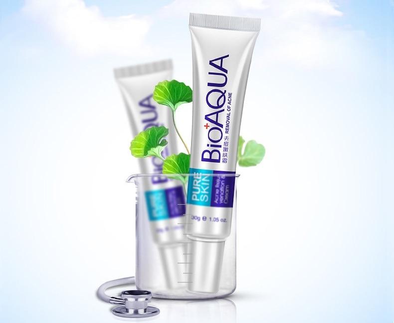 100pcs lot BIOAQUA Skin Care Acne Treatment Face Scars Cream Anti Acne Removal Gel Whitening Moisturizing