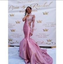 2017 elegante Abendkleid Für Schwarze Frauen Abendkleid Abendkleider Trompete Rosa Appliques Günstige Lange Abschlussball-partei-kleid-kleid