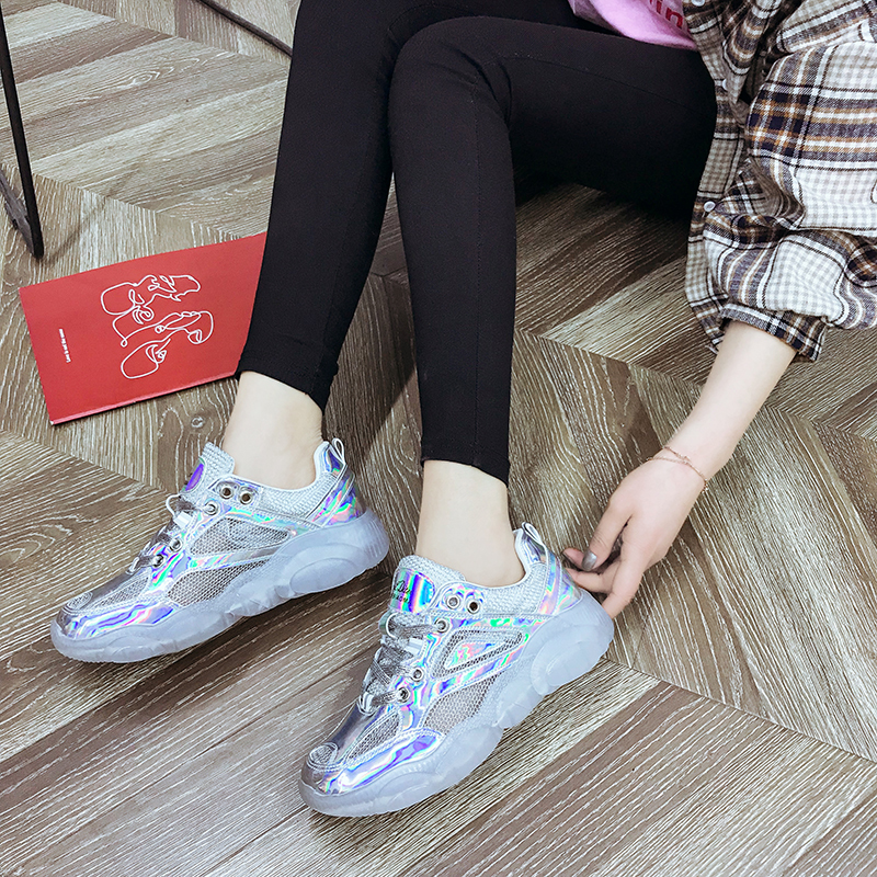 Spring Women Chunky Sneakers Harajuku Casual Dad Shoes Platform Sneakers Transparent Jelly Sneakers Oxford Sole Patent SneakersSpring Women Chunky Sneakers Harajuku Casual Dad Shoes Platform Sneakers Transparent Jelly Sneakers Oxford Sole Patent Sneakers
