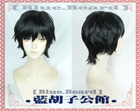 Biamoxer Japanese Anime BANANA FISH Cosplay Wig Eiji Okumura Black Short Men Synthetic Hair for Adult