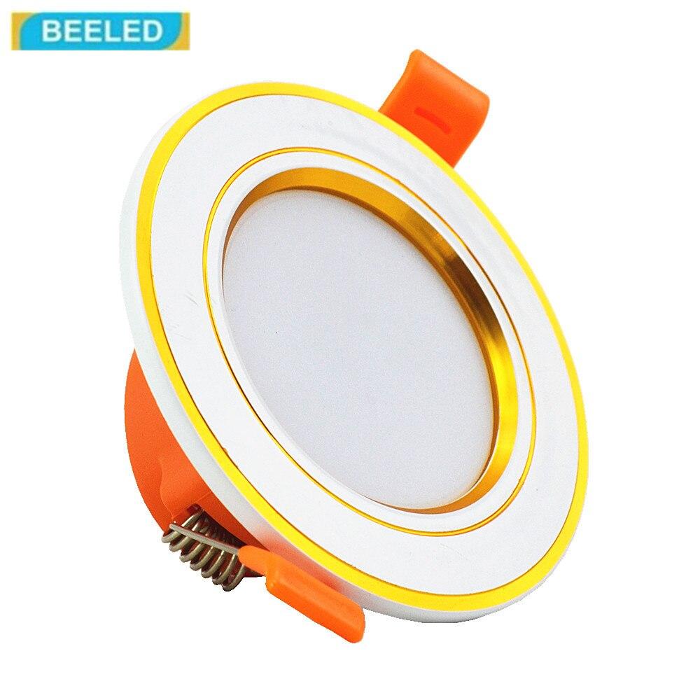 Светодиодный светильники встраиваемые свет светодиодный свет 3 Вт 110 В 220 В светодиодный лампа home decor светильники Алюминиевый белый